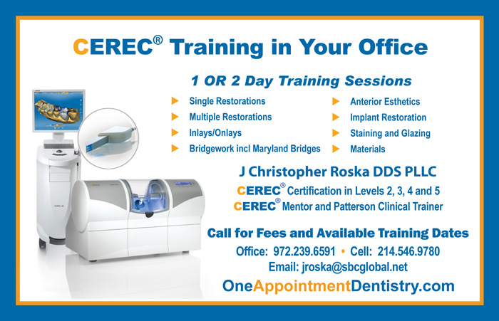 J Christopher Roska CEREC Training
