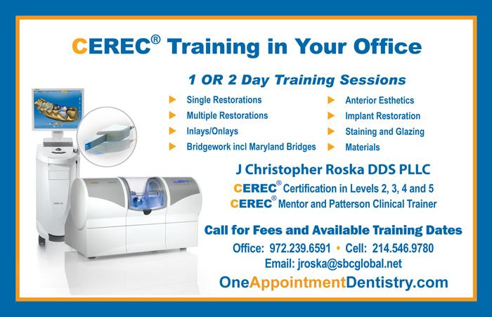 J Christopher Roska CEREC Training
